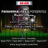 Jonathan Odom on the Paranormalities & Ponderings Radio Show! Episode #97