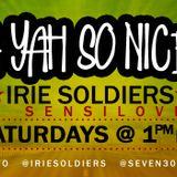 """A YAH SO N!CE"" IRIE SOLDIERS Radio MixShow #43/2013 - FRESH DANCEHALL SEGMENT June13(DjSensilover)"
