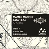 TheSokolRadio Live @ NWCC Matiné Mambo 2016-11-04