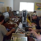 6 Guys jamming on their synths at Patchathon-MMIX-II