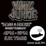 VINYL JUNKIE - Live on Sub.FM - 1st June 2012 - BASS!!