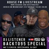 DJ Listener BackTo95 Special with MCs Creed Buzzhard & CKP   - 21/03/2018 - 20:00
