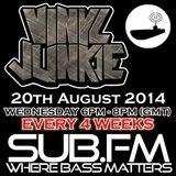 Vinyl Junkie - The Bass 'n' Beats Show on Sub.FM - 20/08/2014