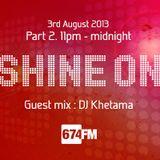 Andy Tex Jones - Shine on Radio show August 2013 Pt.2