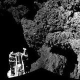 le bruis de la comette en orbite