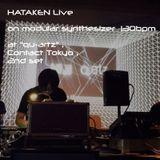 "Hataken - modular synthesizer live on 130bpm  at ""qu-artz"" , Contact Tokyo , 2nd set"