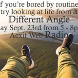 Different Angle Dj Robert Ouimet Sept 23rd 2018 Acxit Web Radio
