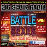 Big Shotz Radio Show 06-05-14 (Battle of the Sexes 90's R&B)