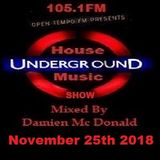 Opentempo Underground House Music Mix Show 25/11/2018
