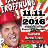 DJ Gino Wild LIVE from 11.11.2016 (Weisenbach Faschingseröffnungs Party mit Markus Becker)