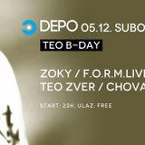 Teychee @ DEPOklub, Zagreb - 05.12.2015.