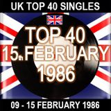 UK TOP 40 09-15 FEBRUARY 1986
