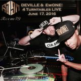 Deville & DJ Ewone! on 4 Turntables LIVE - ROOM 79 in Beijing - JUNE 17 2016