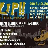 FLIP! @ Bar Shifty Hard Techno DJ Mix by CHiE Nakajima 26 Dec 2015