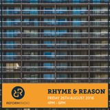 Rhyme and Reason 26th August 2016