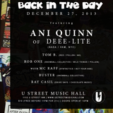 Rob One with MC Raff Recorded Live at Back in the Day 122713