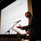 Curator & Consultant Marc Prust talks at Europa Re-Imagined symposium Cardiff, Wales, UK
