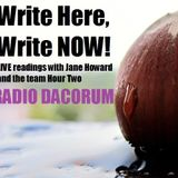 Write here, Write NOW! LIVE readings with Jane Howard and the team on Radio Dacorum Hour TWO