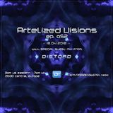 Artelized Visions 052 (April 2018) with guest Distord on DI FM