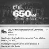 The End of CISL 650 [The Final Hours of CISL 650's Final Broadcast]