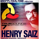 Henry Saiz live at Truesounds 7th Birthday - Club Prestige, Budapest 2011.04.08.