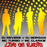 Morgan vs Reverb / Turbo vs Clarkie / vinyl vs digital / oldskool vs newskool @ area51radio 15-2-11