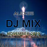 ALEX25 - Dj Mix November 2010