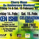 "Dave Davis at ""6th Anniversary - Celebration Night"" @ Cherry Moon (Lokeren) - 15 February 1997"