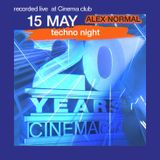 CINEMAclub- 20YEARS - recorded live  at the club . mixed by Alex Normal.