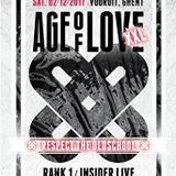 """Insider LIVE at """"Age Of Love XXL"""" @ Vooruit (Gent - Belgium) - 2 December 2017"""