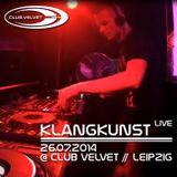 26.07.2014 - KlangKunst live @ Club Velvet // Leipzig