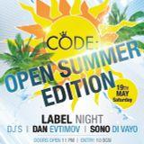 CODE: LABEL NIGHT @ CHERVILO / SONO DI VAYO 19.May