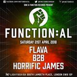 Function:AL April 2018 @ Lightbox - Flava B2B Horrific James - Hosted by Blackeye MC