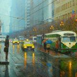 rainy city lounge