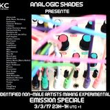 Analogic Shades Special : Compilation Self Identified Non-Male Artists X Hylé Tapes