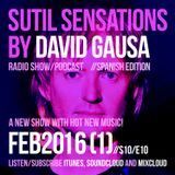 Sutil Sensations Radio Show/Podcast - February 11th 2016 - With tons of hot new music!