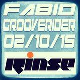 FABIO & GROOVERIDER @ RINSE FM - 02/10/15