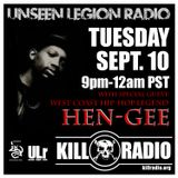 Hen Gee Interview and Rhyme Syndicate Mix- Unseen Legion Radio