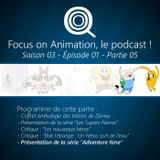 Focus on Animation, le podcast - S03E01 - 05 Adventure time