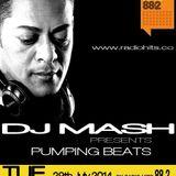 Dj Mash Live @  Pumping Beats on Radio Hits 88.2 (29-7-2014)