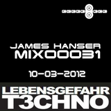 James Hanser @LEBENSGEFAHR T3CHNO 10-03-2012 Amsterdam