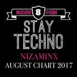 Stay Techno 8 Niza Minx Mixcloud  August Chart 2017
