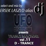 DJ UFO presents TRANCE MACHINE vol.11 select and mix by Ersek Laszlo alias dj ufo
