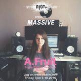 Riot FM present MASSIVE feat A.Fruit (Hyperboloid Records, Russia) 7.10.2016