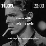 """THE MUSIC SOMMELIER -presents-  """"DINNER WITH DAVD BOWIE"""" A DINNER SERIES @ INNIO"""