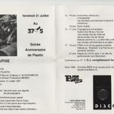 """Tape recorded at 37°5 in Estaimpuis in 1988  dj Plasic ( Pascal """"Amnesia"""" Panté )"""