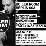2562 aka A Made Up Sound Live @ Boiler Room 003,Berlin (26.10.2011)
