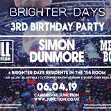 Brighter Days 3rd Birthday Preview #2 - Full Intention Live Set Nov 18