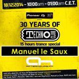 18.12.2014 - 30 Years of Technoclub Special on Afterhours FM - Manuel le Saux (16:00 - 18:00 CET)