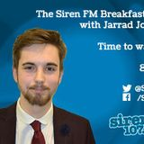 Monday 3rd August 2015 - The Siren FM Breakfast Show with Jarrad Johnson